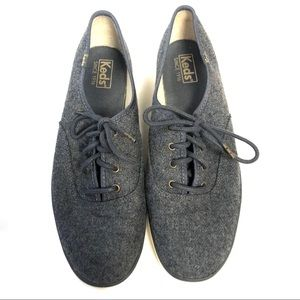 Keds Canvas Gray Flannel Sneakers Size 10